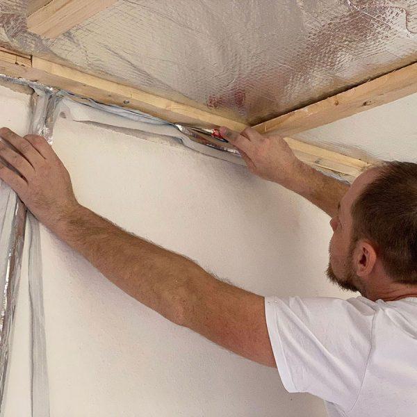 Flexible Gebäudeisolieung ISUM MF14 - Innendämmung - Verarbeitung